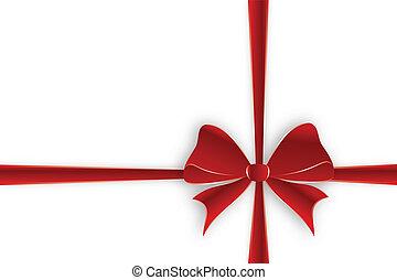 Crossed red ribbon