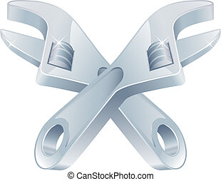 Crossed spanners tool icon