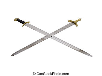 Crossed Swords with sturdy hilts are a sign of power and respect - path included
