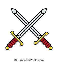 Crossed Swords Icon Symbol