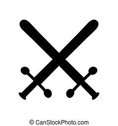 Crossed swords symbol icon.