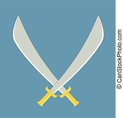 Crossed Swords Vector