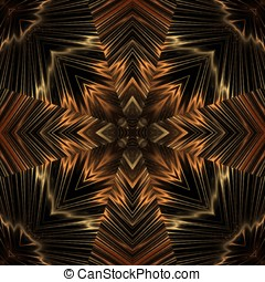 Crossed Threads, Seamless Abstract - Kaleidoscopic, flowing...