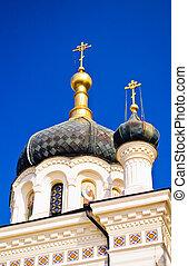 Crosses and domes of Foros Church, Foros Crimea Ukraine
