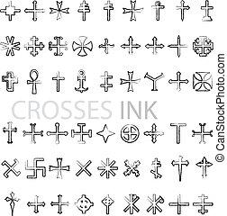 Crosses ink