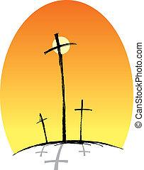 Crosses (three)