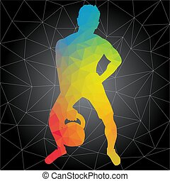 crossfit, άνθρωποι , απεικονίζω σε σιλουέτα , μικροβιοφορέας , καταλληλότητα , workouts