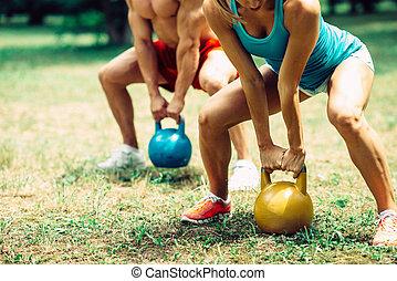 Crossfit Fitness Couple