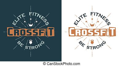 Crossfit logo, elite fitness