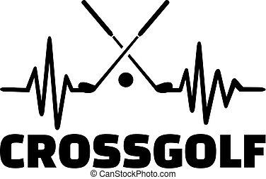 crossgolf, ligne, pulsation