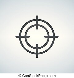 Crosshair icon on white background. Vector illustration