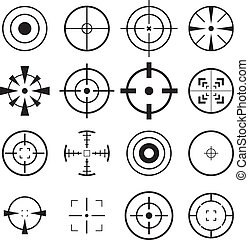 Crosshair Icon set for your design