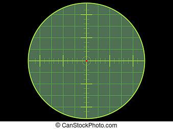 crosshair, in het oog krijgen, geweer