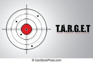 Crosshair on Target Background - illustration of crosshair...