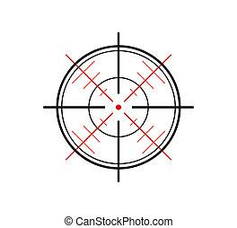 crosshair on white background - crosshair of the gun on...