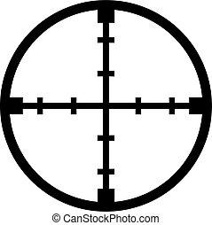 Crosshair reticle sniper
