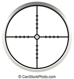 Crosshair, reticle, target mark. Editable vector illustration.