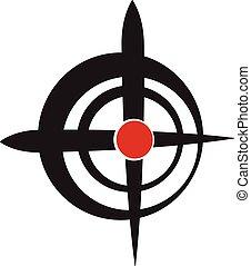 Crosshair, reticle, viewfinder, target graphics