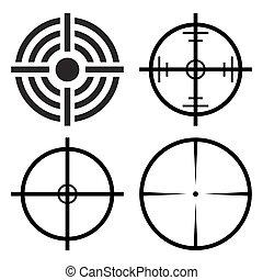 crosshair target set vector symbol icon design. - crosshair...