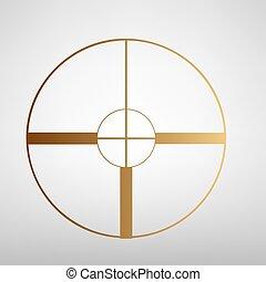 Crosshair Target  sign
