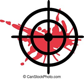 Crosshair with blood