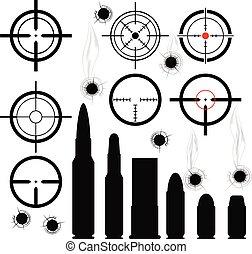 Crosshairs (gun sights), bullet