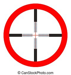 crosshairs icon - vector target aim, sniper symbol - weapon...