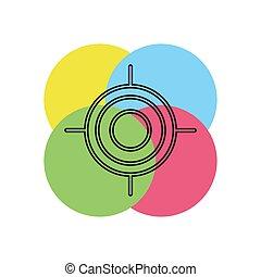crosshairs icon - vector target aim, sniper symbol