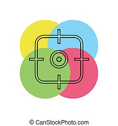 crosshairs icon - vector target aim