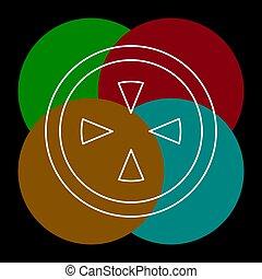 crosshairs icon - vector target aim, sniper
