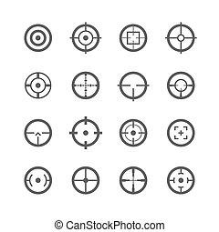 crosshairs, icone