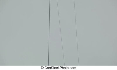 Crossing electric wires in the city.