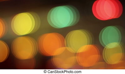 Crossing Lights Bokeh - Night crossing screen colorful...