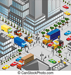 Crossing of city - crossing of city is in a...