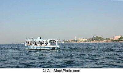 crossing of the Nile River in Luxor, Egypt