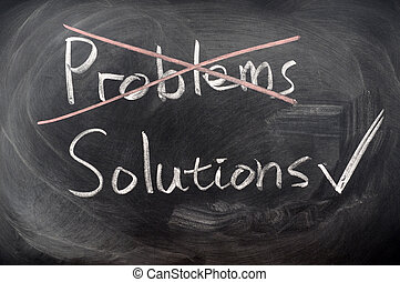 Crossing out problems with solutions chosen on a blackboard