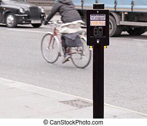 Crossing sign pedestrian