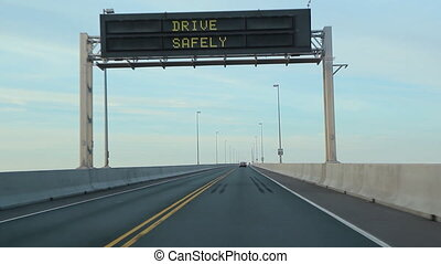 Confederation bridge. - Crossing the Confederation bridge. ...