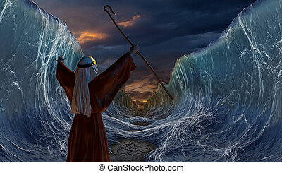 Crossing the Red Sea with Moses - Moses Exodus Route. ...