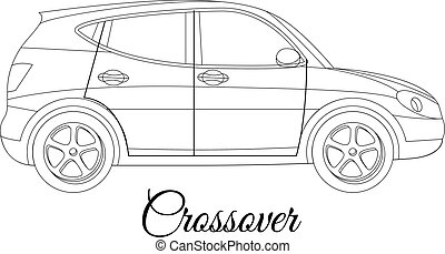 crossover car body type outline
