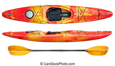 crossover whitewater kayak isolated - crossover kayak...
