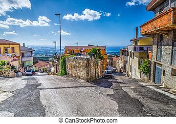 Crossroad in a small village