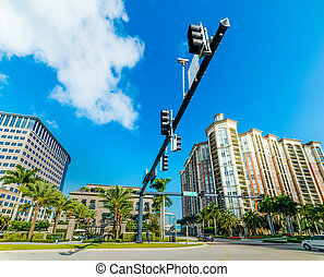 Crossroad in beautiful downtown West Palm Beach