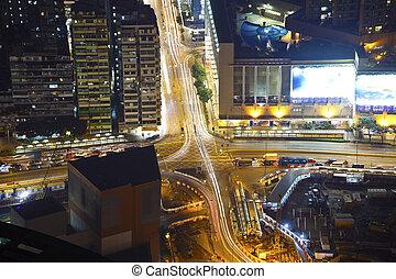 Crossroad in modern city