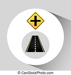crossroad sign concept graphic