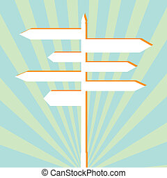 Crossroad sign post background - Crossroad sign post vector ...
