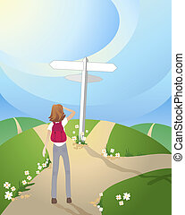 crossroads - an illustration of a crossroads in the...