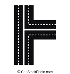Crossroads icon in simple style