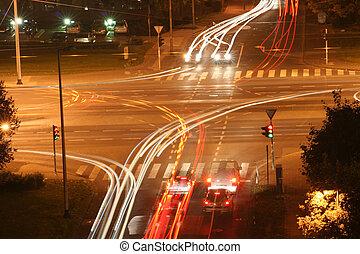 Crossroads in the night