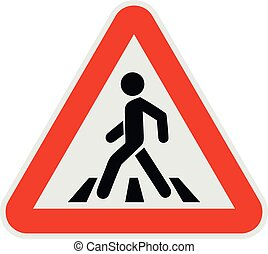 Crosswalk icon, flat style.